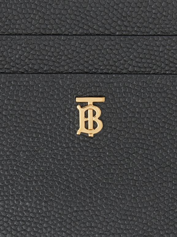 Monogram Motif Leather Card Case in Black - Women | Burberry United Kingdom - cell image 1