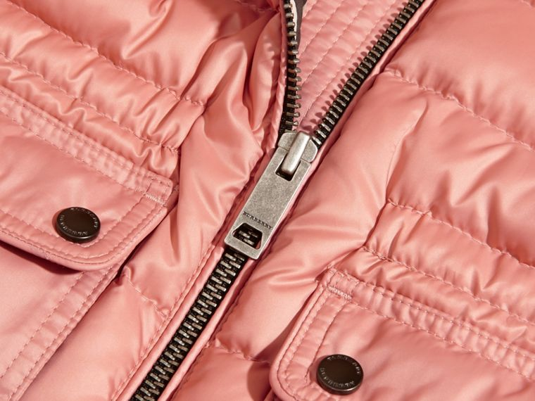 Light copper pink Hooded Down-filled Gilet Light Copper Pink - cell image 1