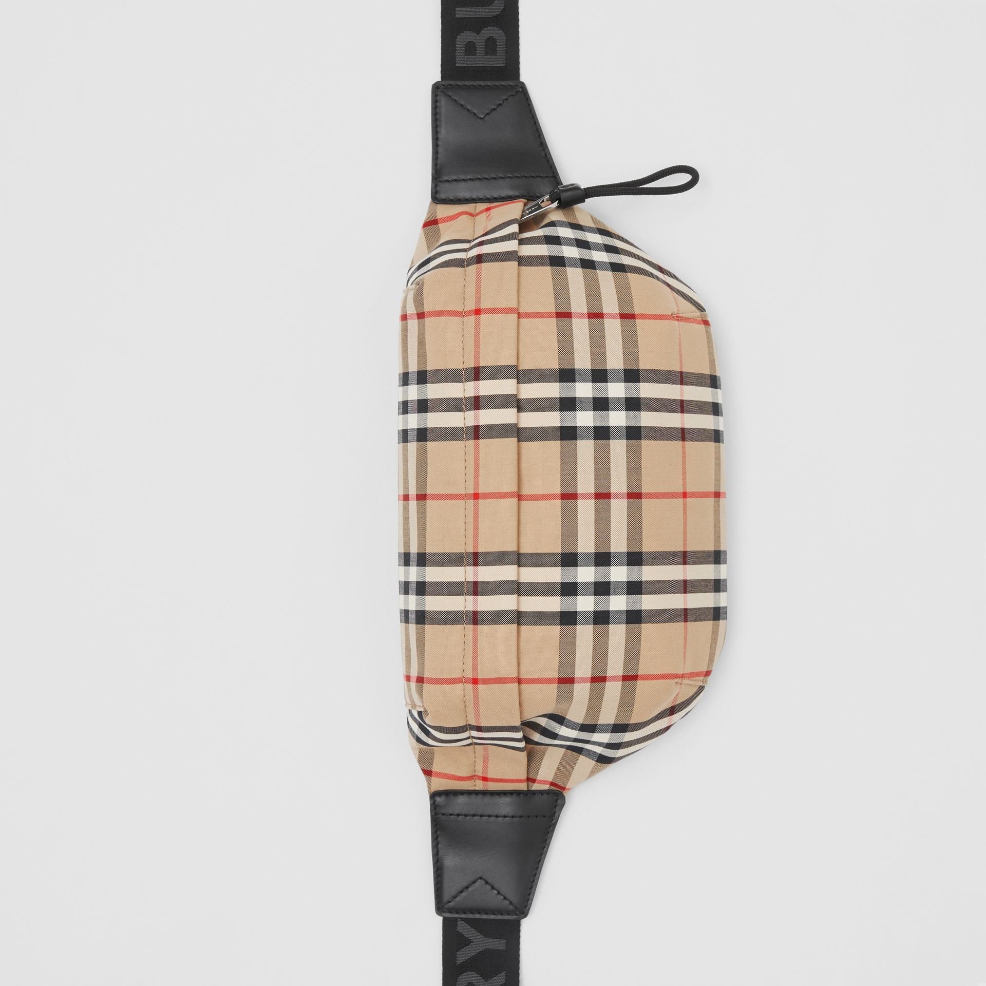 Medium Vintage Check Bonded Cotton Bum Bag in Archive Beige - Men | Burberry United Kingdom - gallery image 3