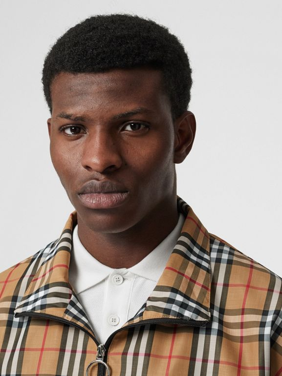 Vintage Check Lightweight Jacket in Yellow - Men | Burberry Australia - cell image 1