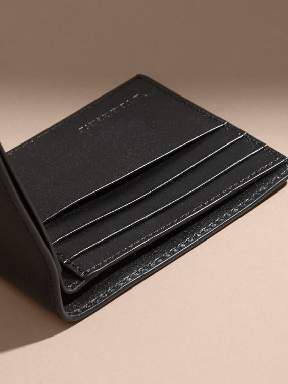 London Leather Slim Folding Wallet Black - cell image 3