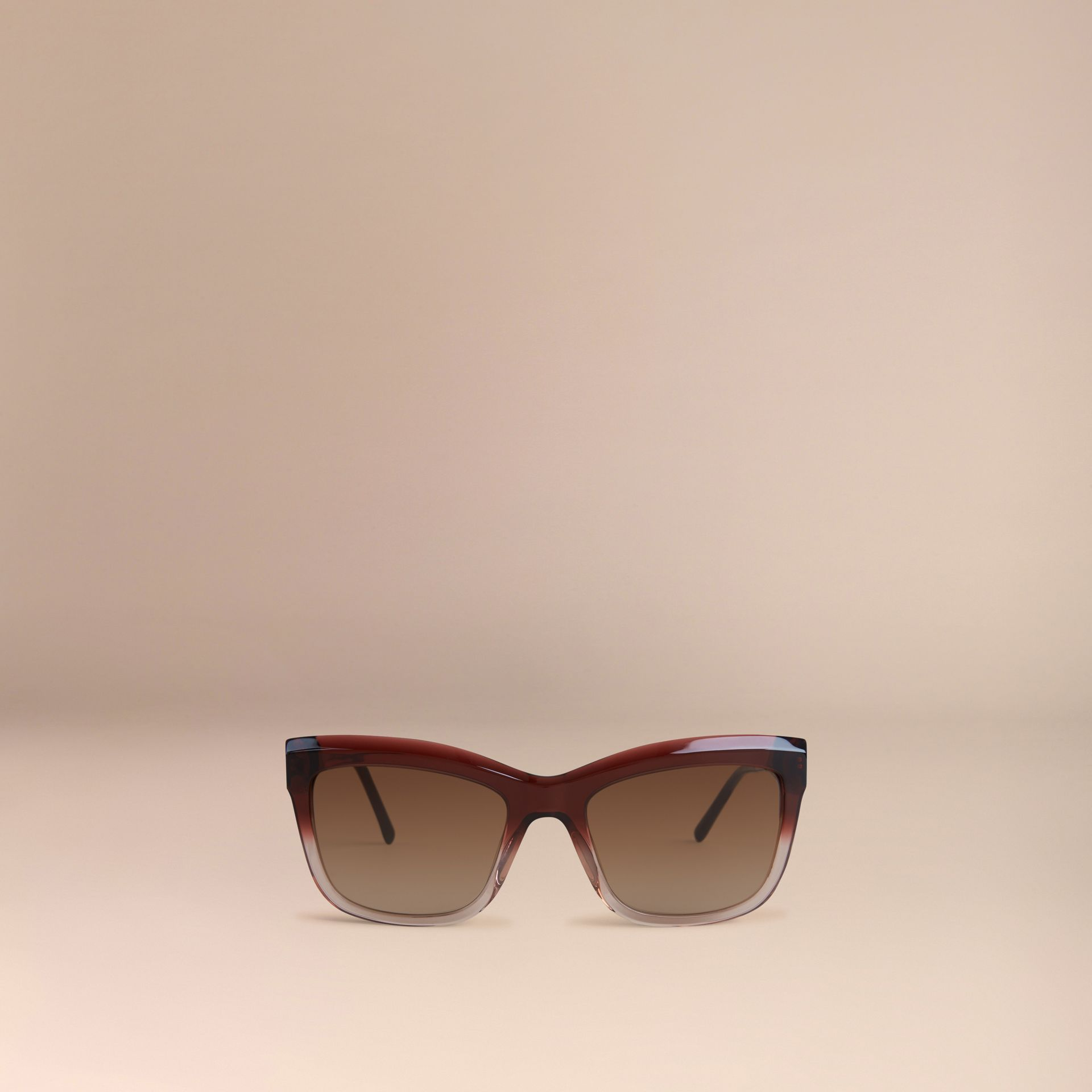 Dark military red Gabardine Lace Collection Square Frame Sunglasses Dark Military Red - gallery image 2