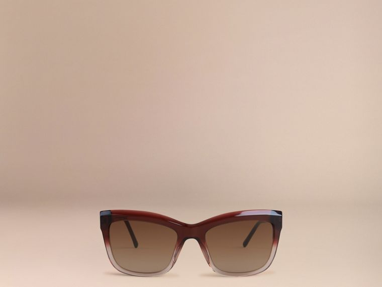 Dark military red Gabardine Lace Collection Square Frame Sunglasses Dark Military Red - cell image 1
