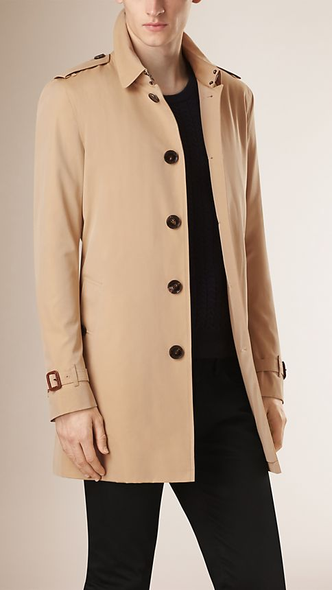Honey Cotton Gabardine Trench Coat - Image 2