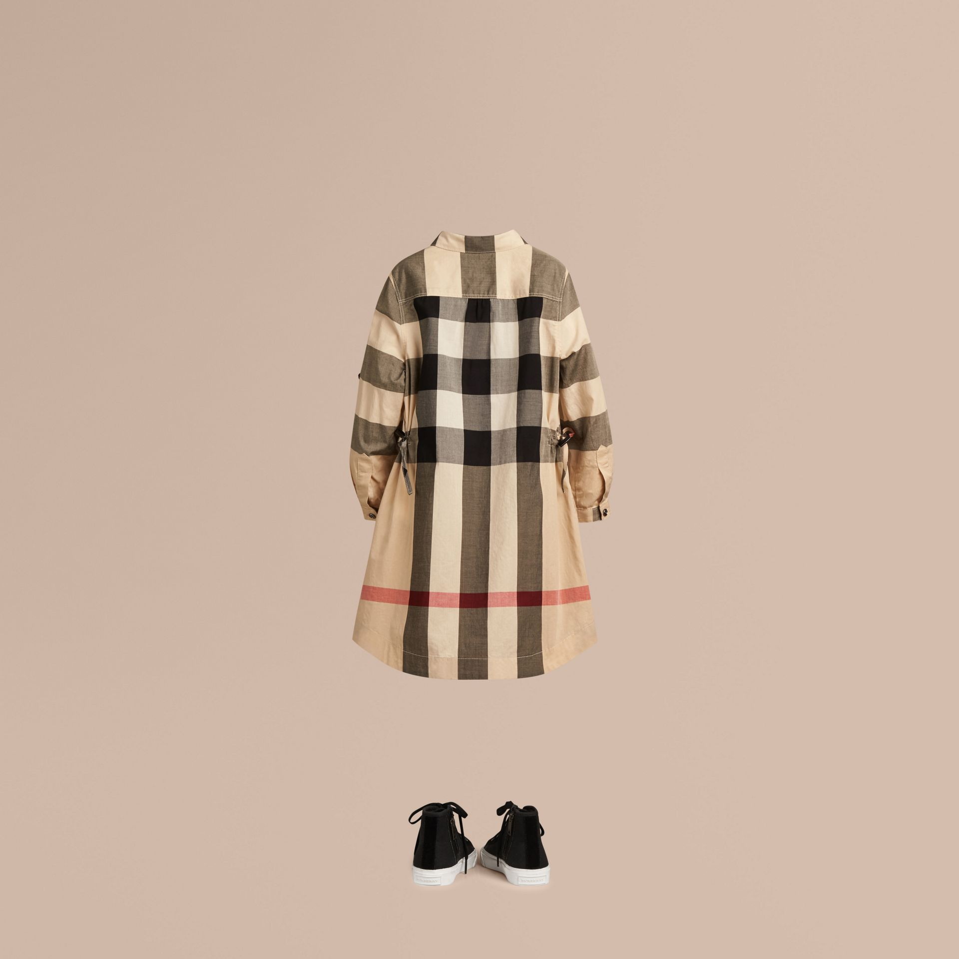 Check Cotton Shirt Dress in New Classic - Girl | Burberry - gallery image 3