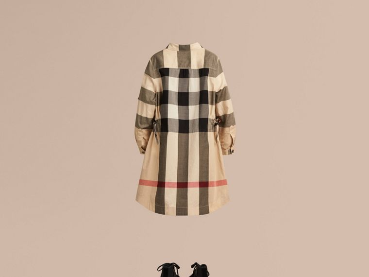 Check Cotton Shirt Dress in New Classic - Girl | Burberry - cell image 2