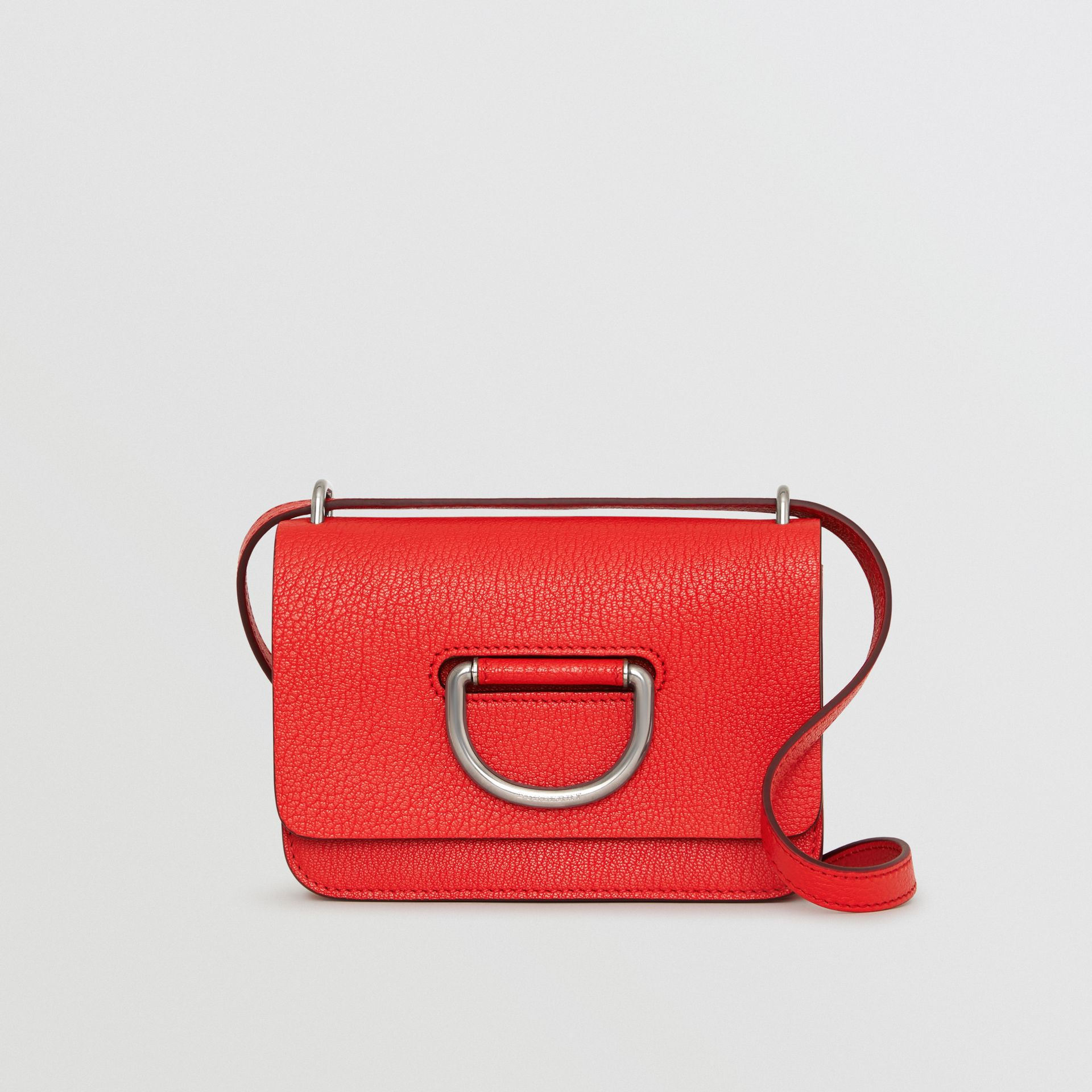 Mini sac The D-ring en cuir (Rouge Vif) - Femme | Burberry Canada - photo de la galerie 0