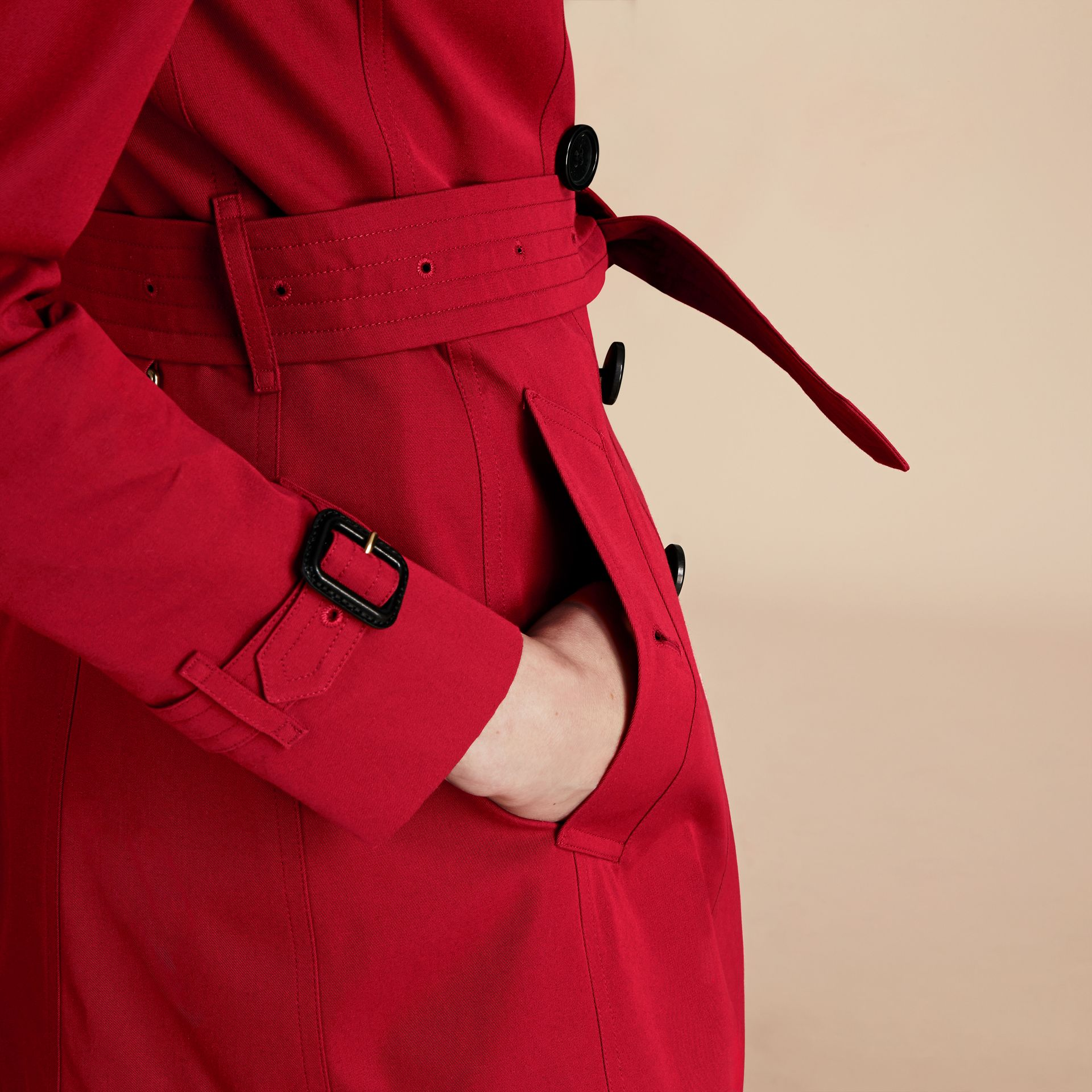 Parade red The Chelsea – Mid-length Heritage Trench Coat Parade Red - gallery image 7