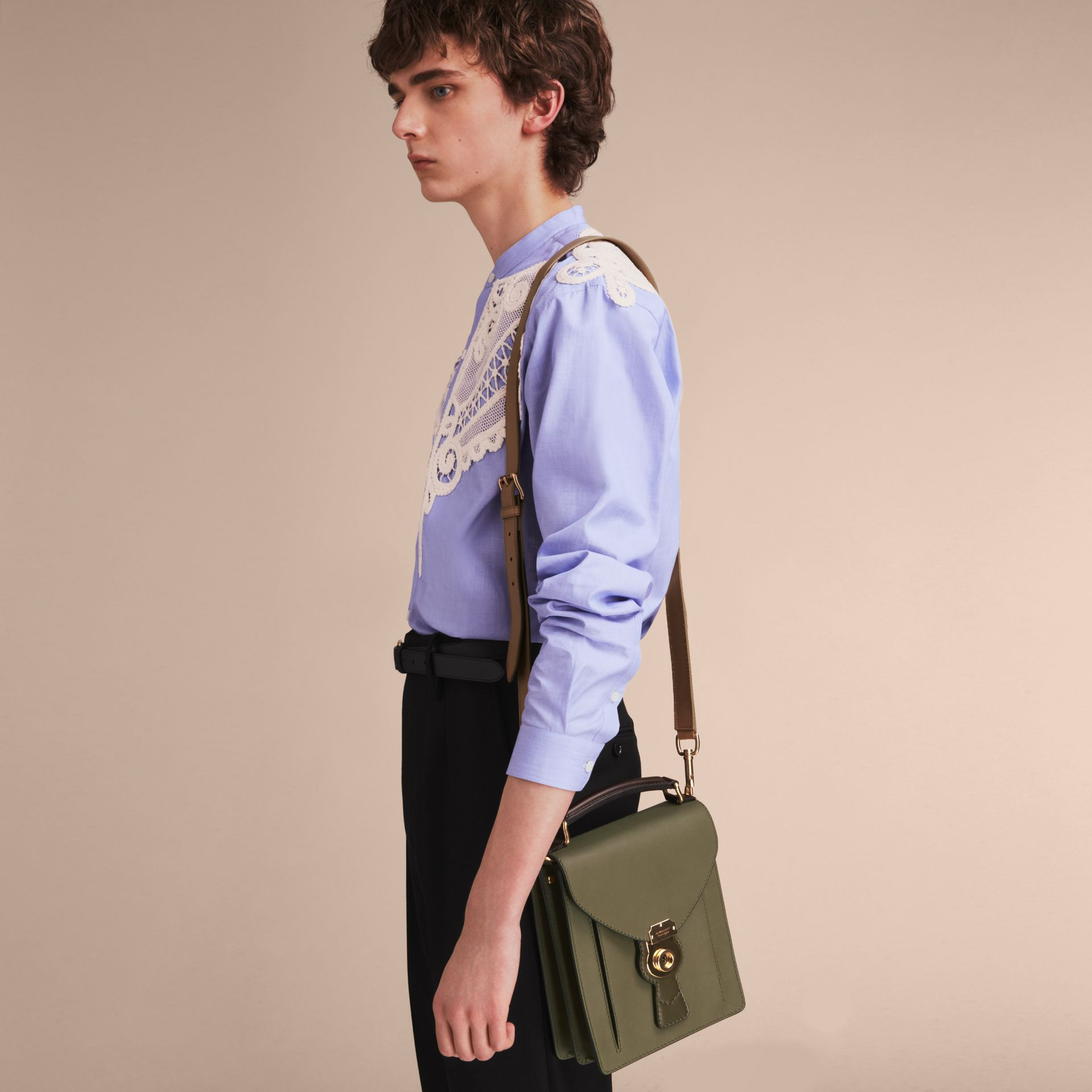 The Small DK88 Satchel in Moss Green - Men | Burberry United Kingdom - gallery image 7