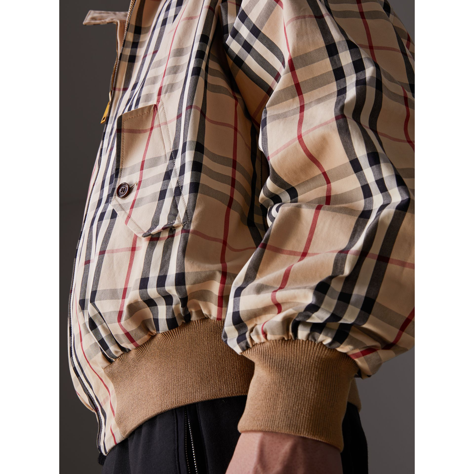 Gosha x Burberry Reversible Harrington Jacket in Honey | Burberry Australia - gallery image 6