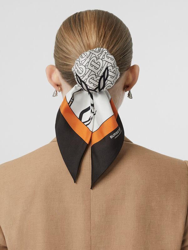 Unicorn Print Silk Hair Scarf in Multicolour - Women | Burberry Singapore - cell image 2
