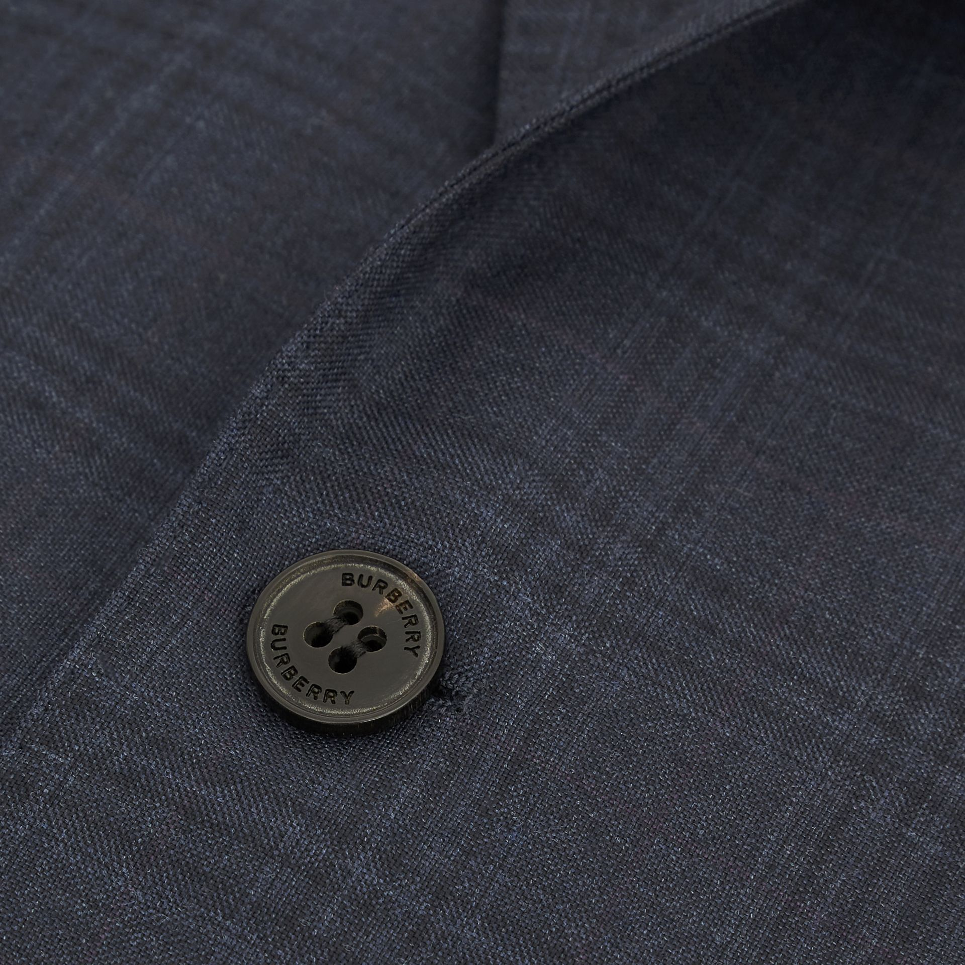 Classic Fit Windowpane Check Wool Suit in Uniform Blue - Men | Burberry - gallery image 8