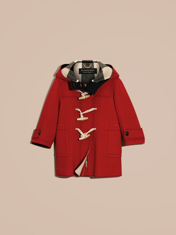 Military red Double-faced Technical Wool Duffle Coat - cell image 3