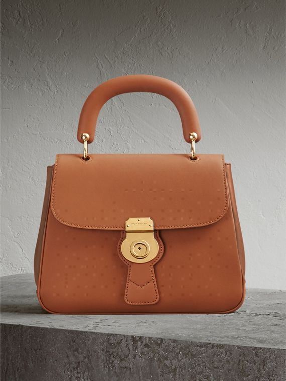 The Medium DK88 Top Handle Bag — Online Exclusive in Bright Toffee