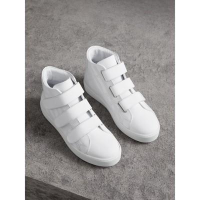 Burberry Chaussures De Sport En Gabardine De Coton Logo Archives - Blanc oafMM5QT5p