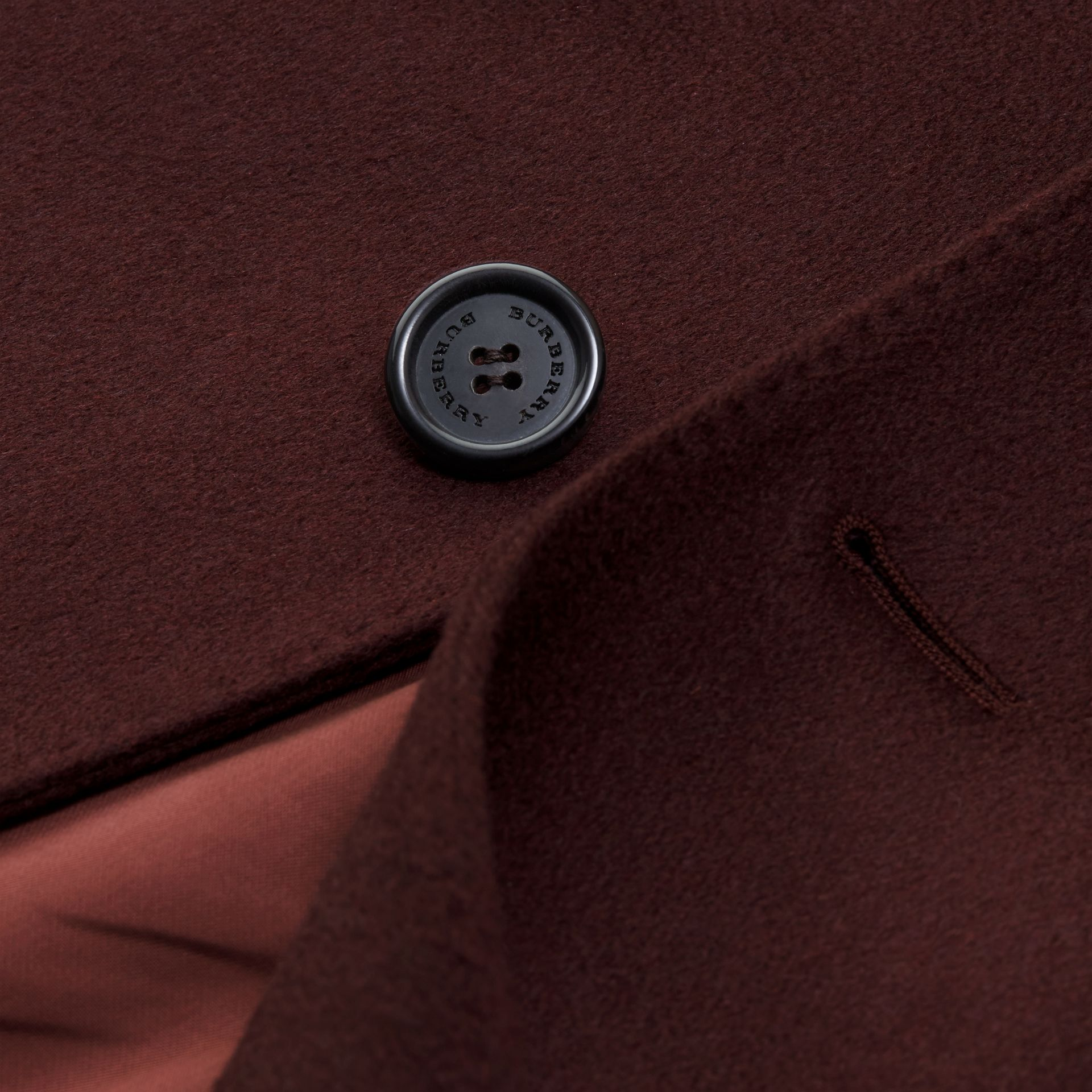 Plum Cashmere Overcoat - gallery image 2
