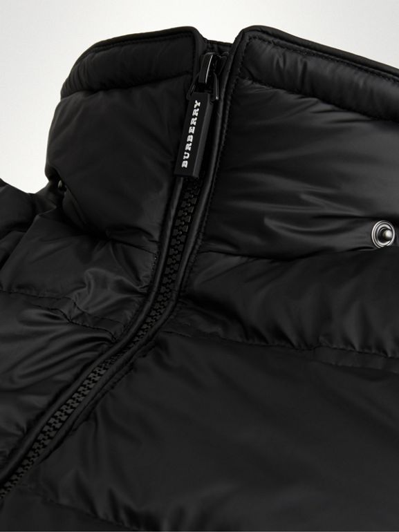 Detachable Hood Down-filled Puffer Coat in Black | Burberry - cell image 1