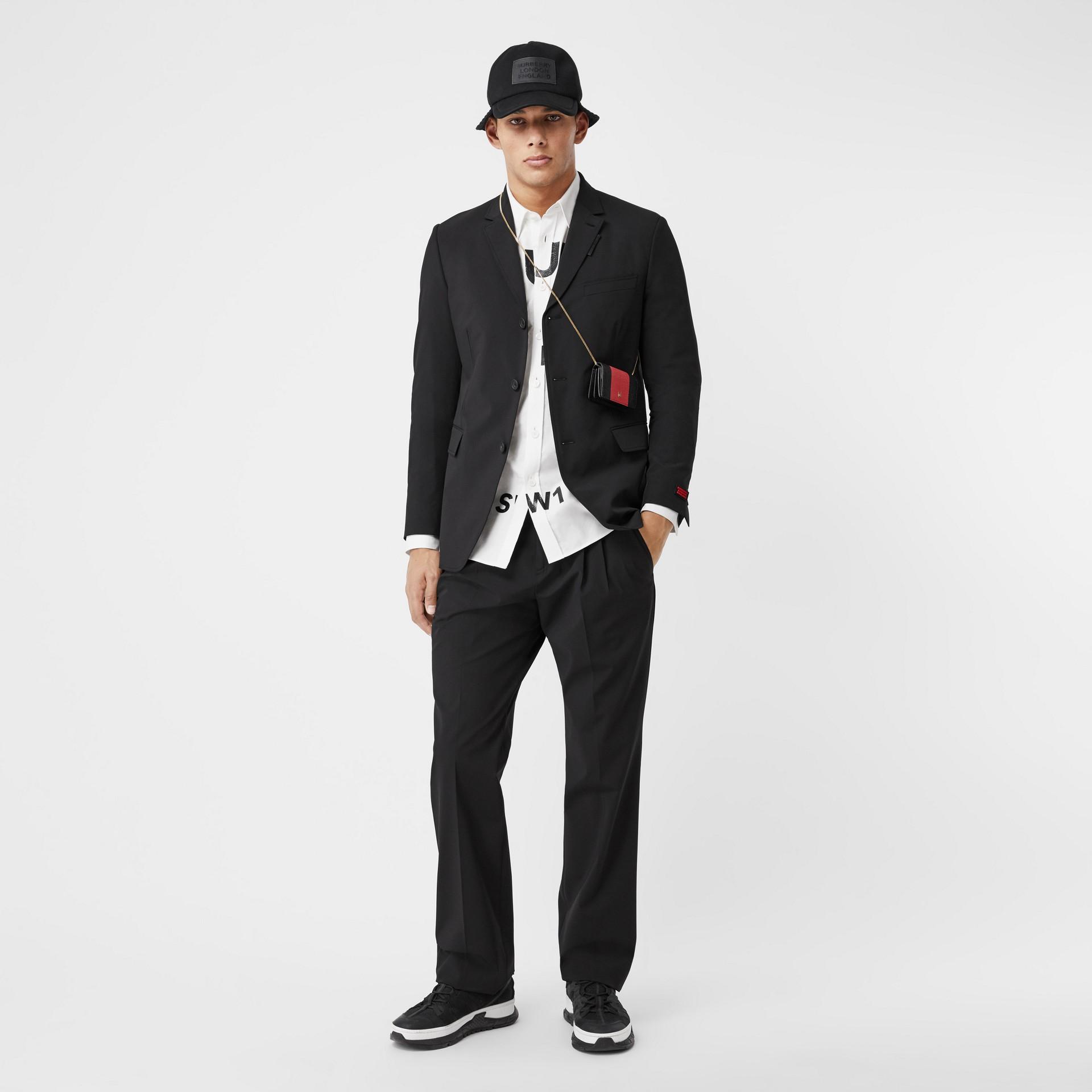 Veste de costume slim en nylon technique (Noir) - Homme | Burberry - photo de la galerie 5