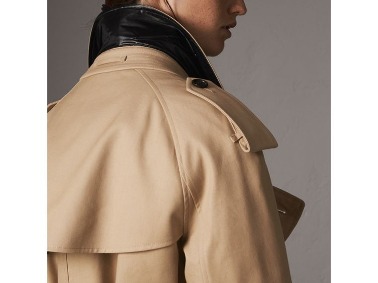 Reversible Down-filled Cotton Gabardine Trench Coat in Honey - Women | Burberry - cell image 4