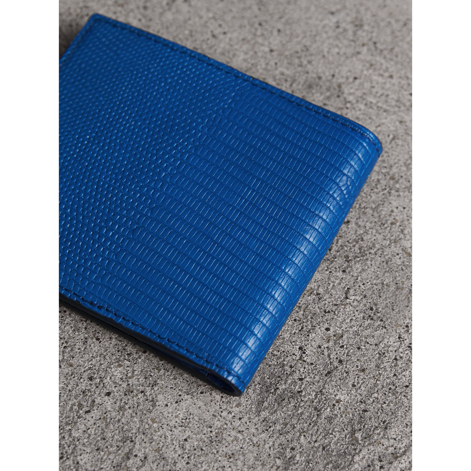 Lizard International Bifold Wallet in Sapphire Blue - Men | Burberry United Kingdom - gallery image 2