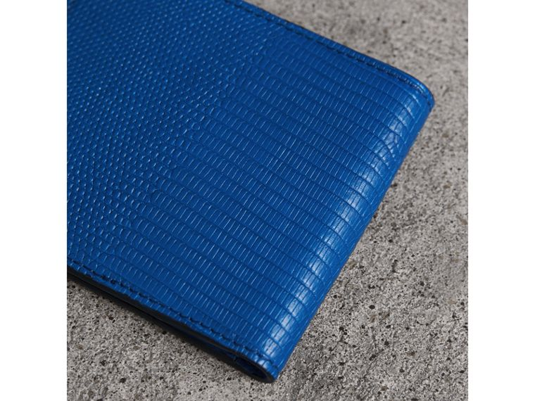Lizard International Bifold Wallet in Sapphire Blue - Men | Burberry United Kingdom - cell image 1