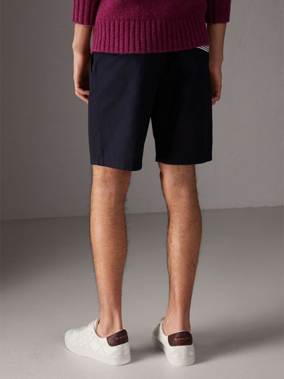 Cotton Twill Chino Shorts in Ink - Men | Burberry Australia - cell image 2