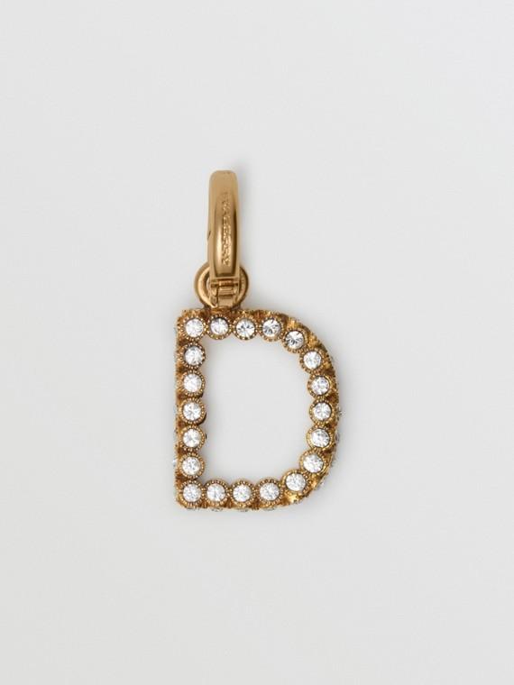 水晶字母「D」吊飾 (水晶色)