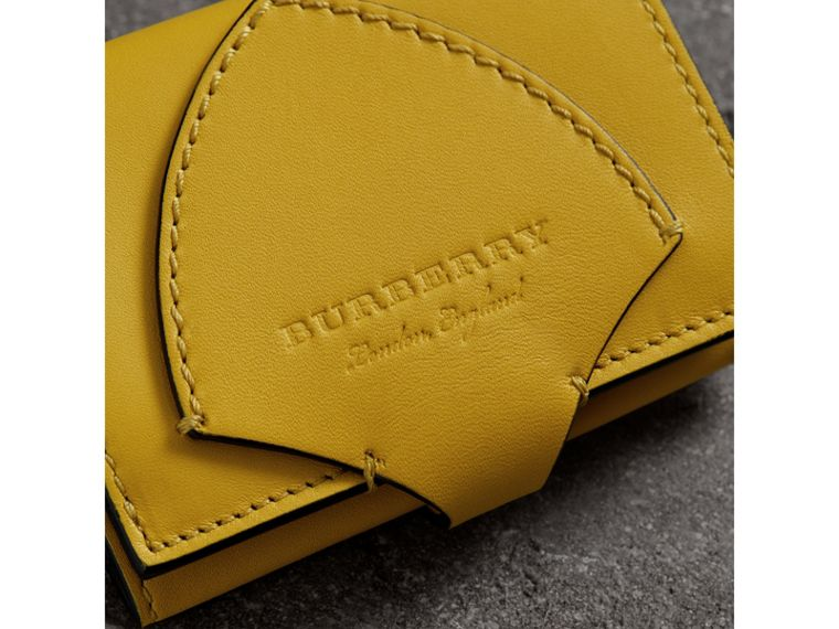 Equestrian Shield Leather Continental Wallet in Bright Larch Yellow - Women | Burberry - cell image 1