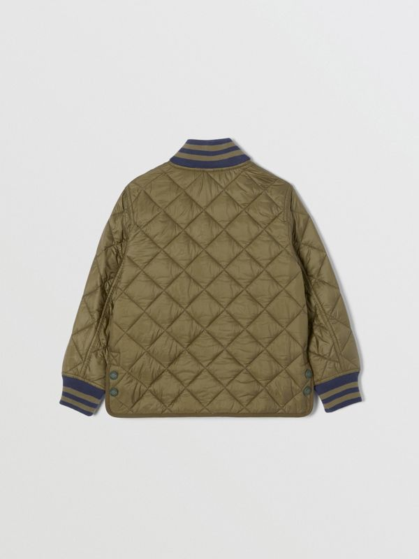 Recycled Polyester Diamond Quilted Jacket in Oregano | Burberry United Kingdom - cell image 3