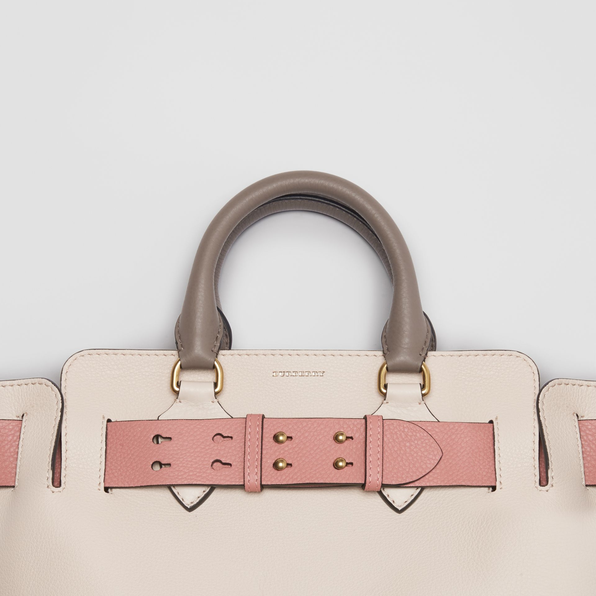 The Small Tri-tone Leather Belt Bag in Limestone/dusty Rose - Women | Burberry Singapore - gallery image 6