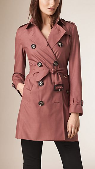 Silk Wool Trench Coat
