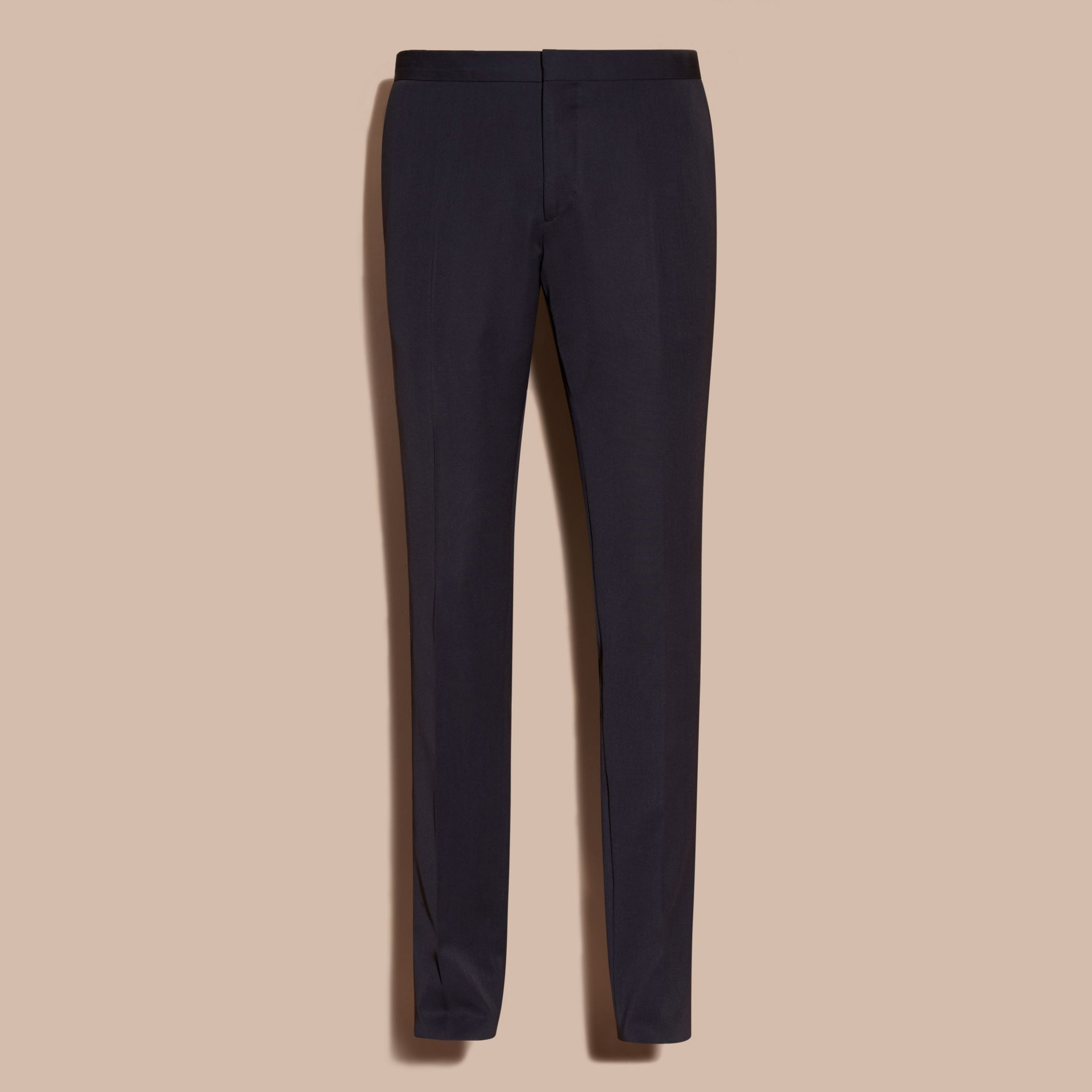 Virgin Wool Tuxedo Trousers Navy - gallery image 4