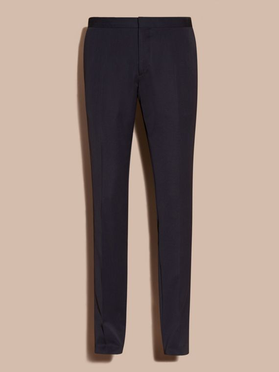 Navy Virgin Wool Tuxedo Trousers Navy - cell image 3