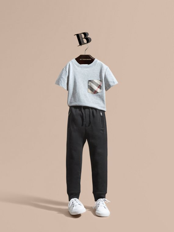 Drawcord Cotton Sweatpants