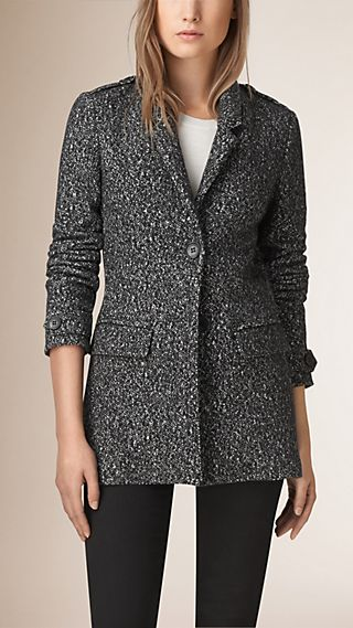 Wool Cotton Jersey Jacket