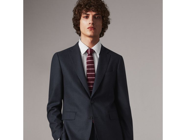 Modern Cut Striped Silk Tie in Garnet Pink - Men | Burberry Hong Kong - cell image 2