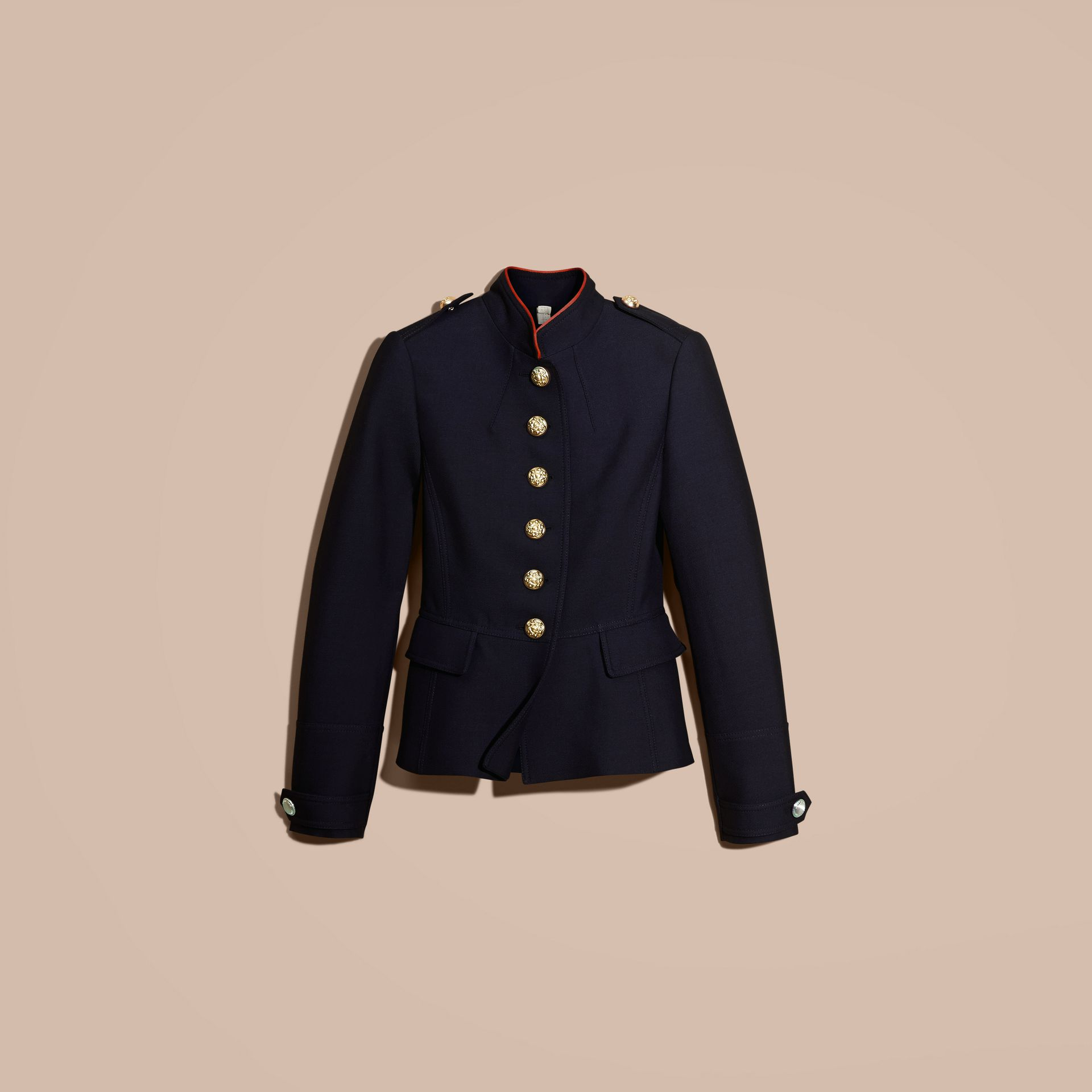 Ink blue Regimental Technical Wool Cotton Jacket - gallery image 4