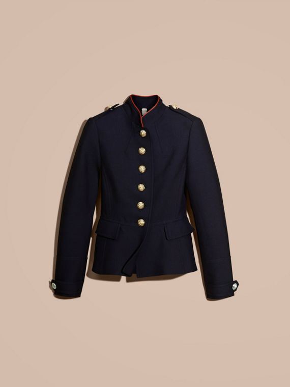 Ink blue Regimental Technical Wool Cotton Jacket - cell image 3