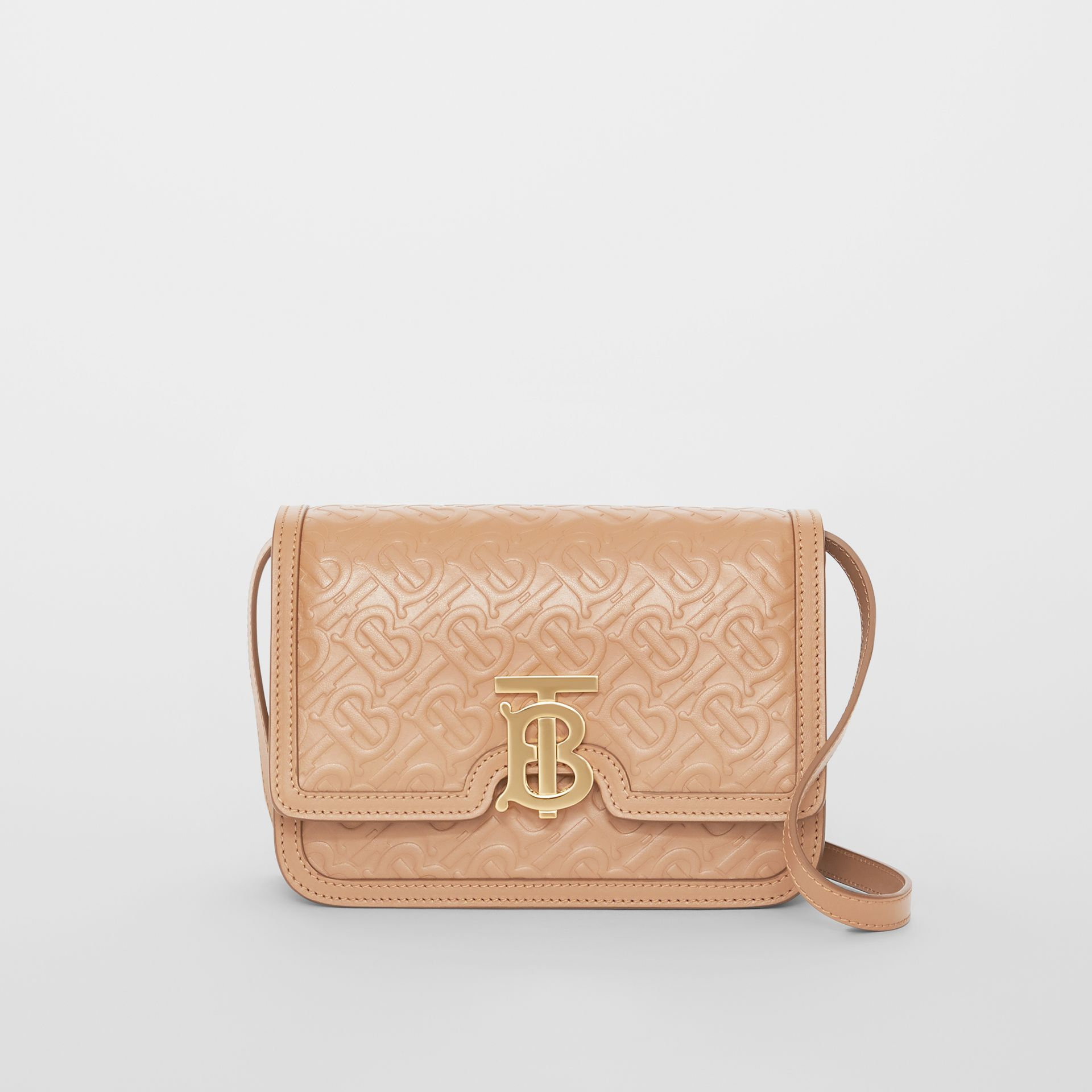 Small Monogram Leather TB Bag in Light Camel - Women | Burberry - gallery image 0