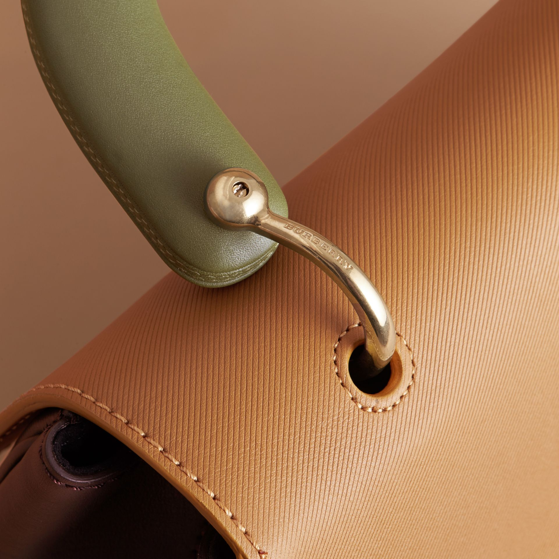 The Medium DK88 Top Handle Bag in Dark Chocolate/ochre Yellow - Women | Burberry - gallery image 6