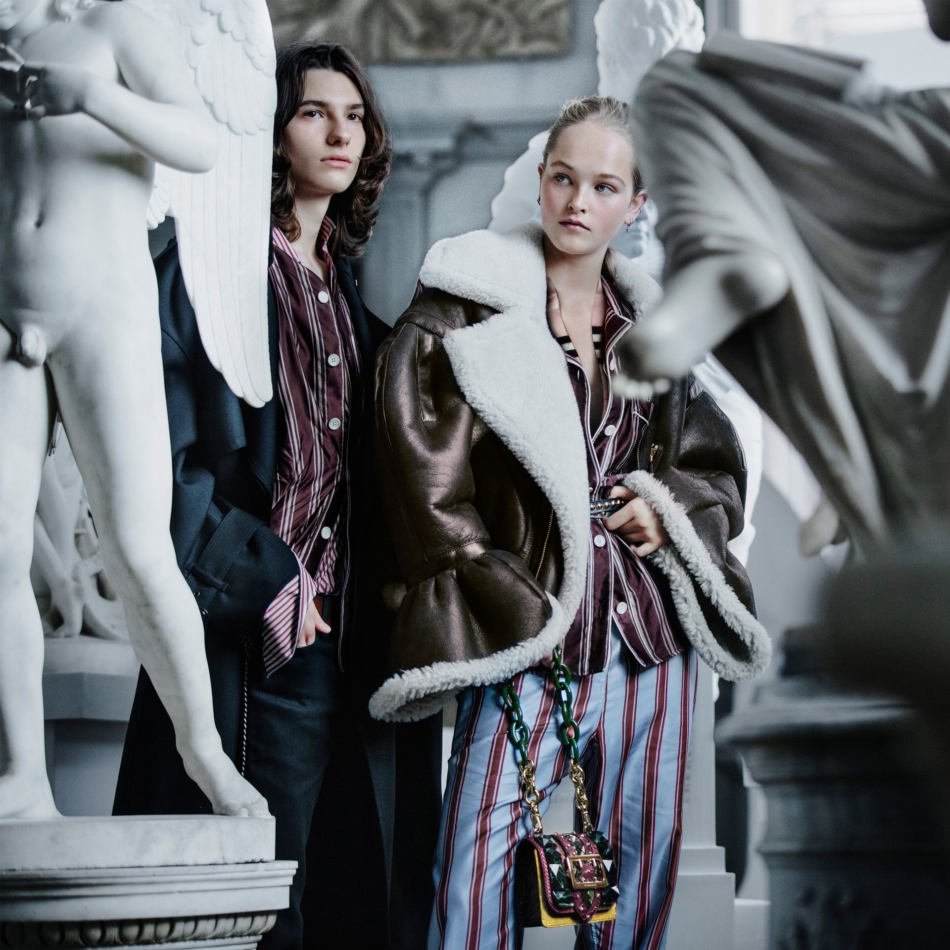 Nero Trench coat in twill di lana dal taglio comodo - immagine della galleria 8