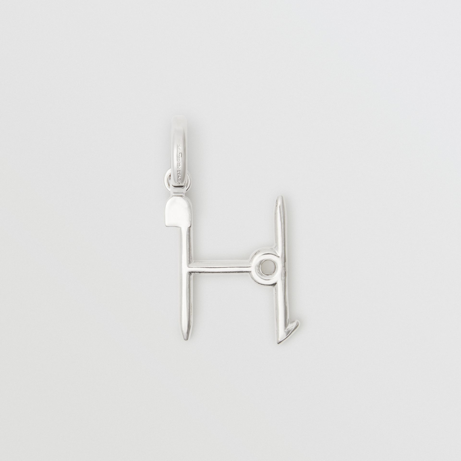 Kilt Pin 'H' Alphabet Charm in Palladio - Women | Burberry - gallery image 0