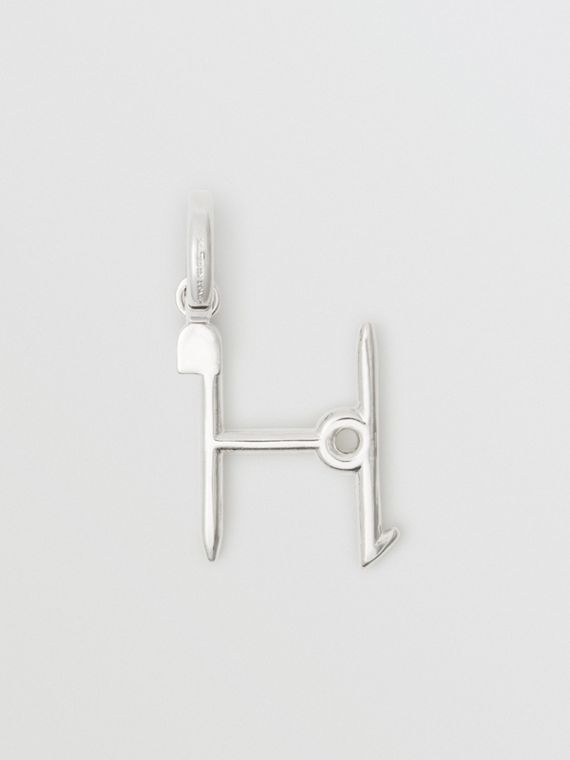 Kilt Pin 'H' Alphabet Charm in Palladio