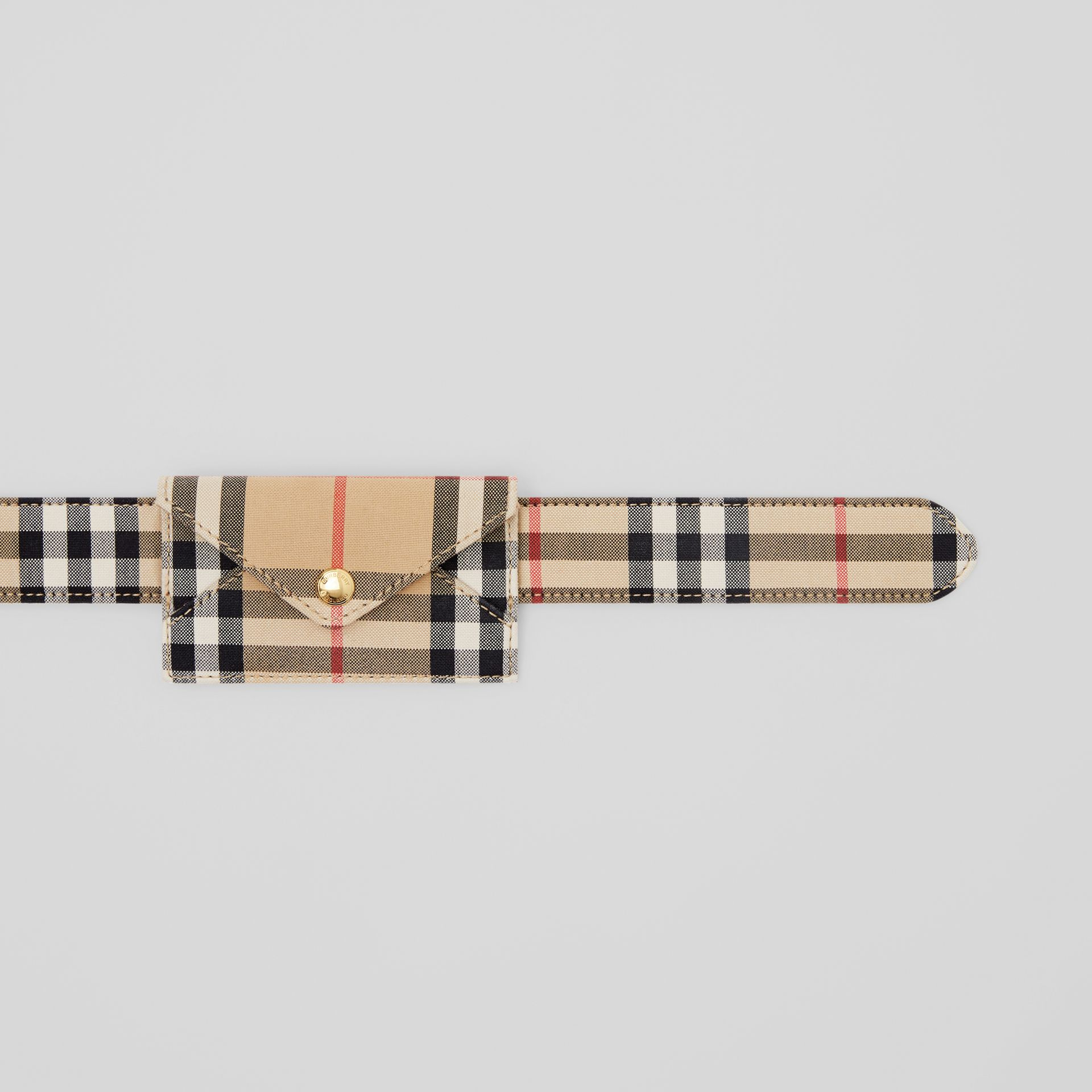 Envelope Detail Vintage Check Cotton Belt in Archive Beige - Women | Burberry United States - gallery image 1