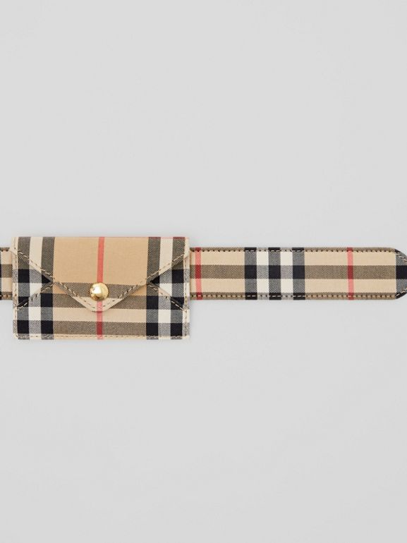 Envelope Detail Vintage Check Cotton Belt in Archive Beige - Women | Burberry United States - cell image 1