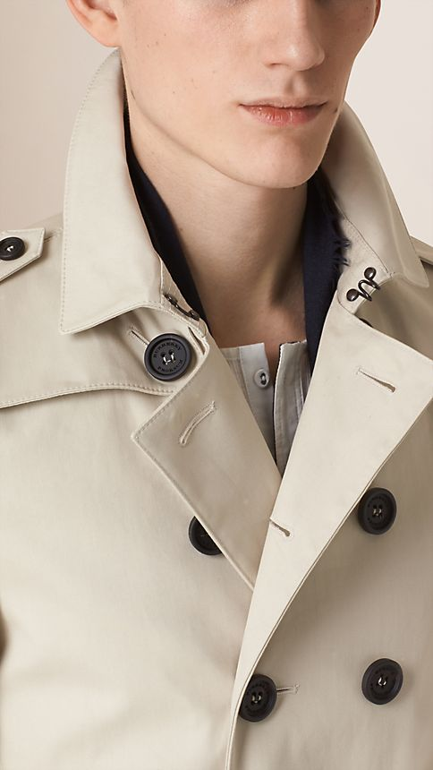 Stone Cotton Gabardine Trench Coat - Image 4