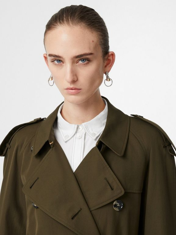 The Westminster Heritage Trench Coat in Dark Military Khaki - Women | Burberry Singapore - cell image 1