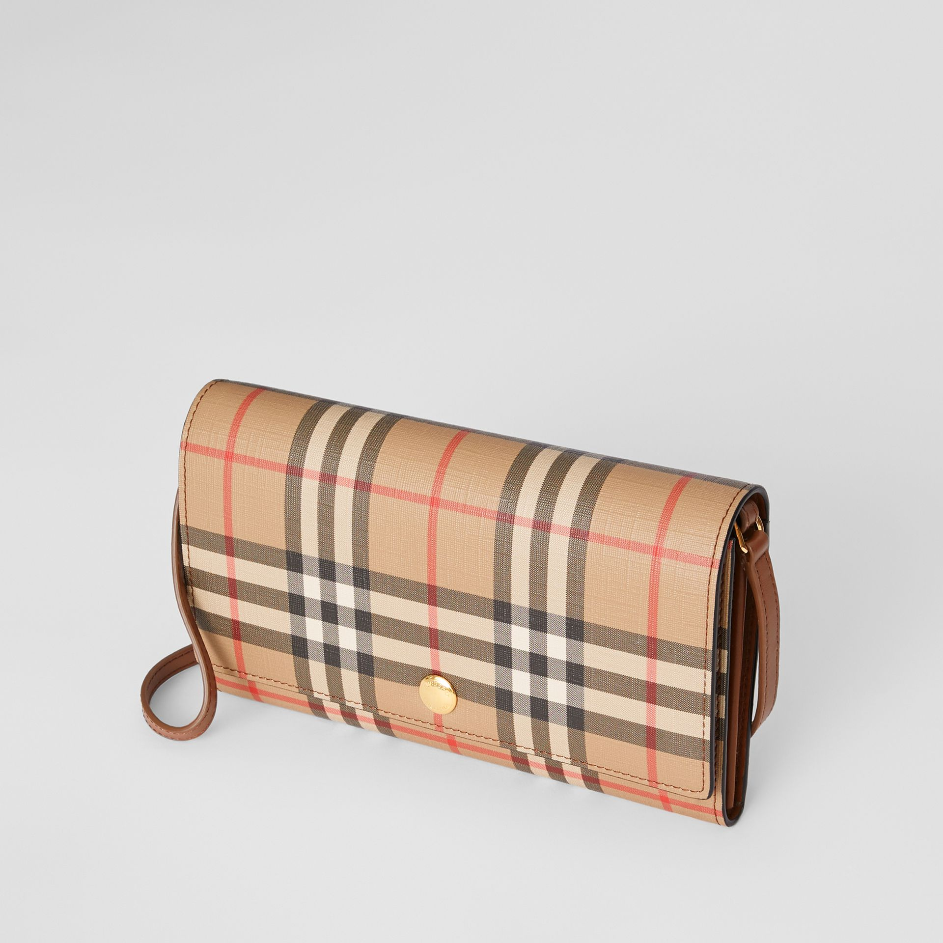 Portefeuille Vintage check avec sangle amovible (Brun Malt) - Femme | Burberry Canada - photo de la galerie 2