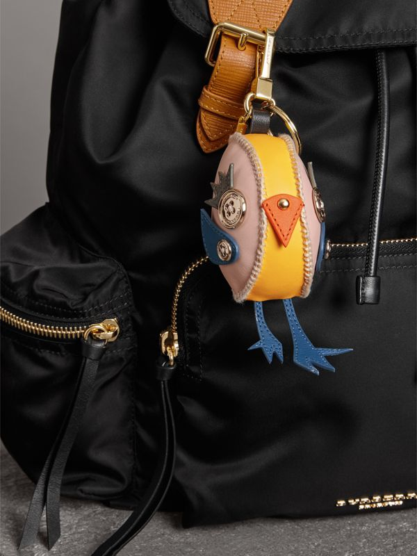 Derek The Bird Leather Charm in Larch Yellow - Women | Burberry Australia - cell image 2