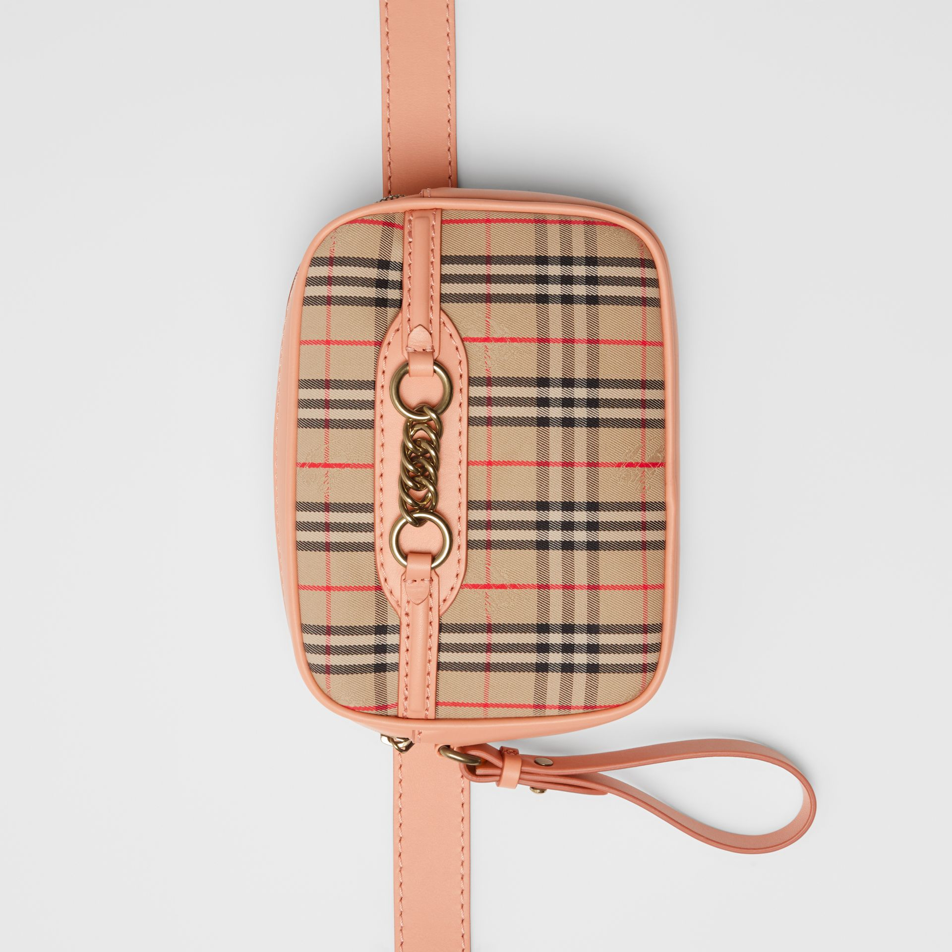 The 1983 Check Link Bum Bag with Leather Trim in Peach - Women | Burberry - gallery image 0